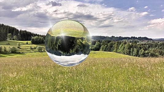 táj, hegyek, természet, Allgäu, Németország, bolygó - tér, Sky