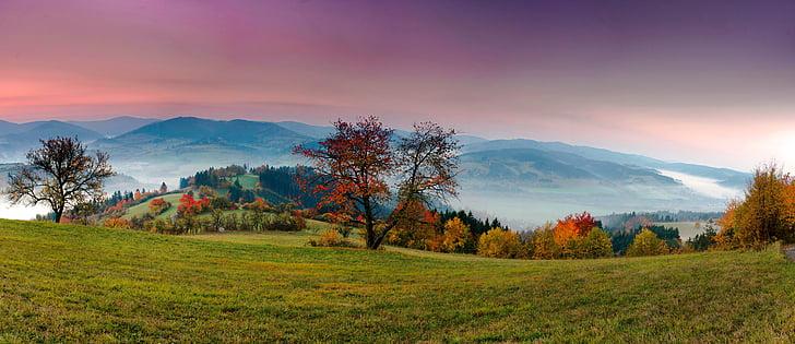 panorama, landscape, nature, view, heaven, dawn, sunrise