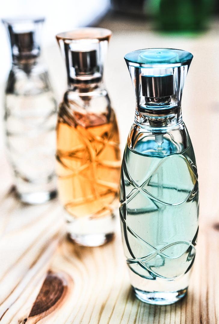 香水, ボトル, ガラス, 化粧品, 香り, 香水瓶, スプレー