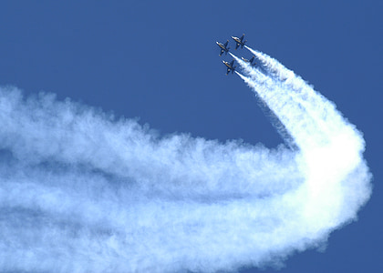 air show, blue angels, formation, military, aircraft, jets, smoke