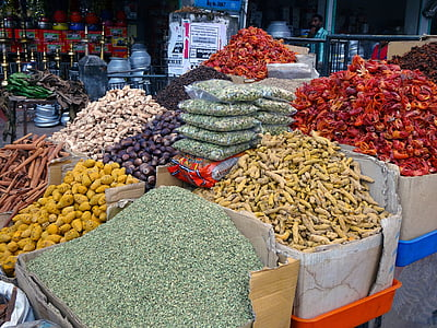 vürtsid, turu, kardemon, ingver, chili, kaneeli, Spice market