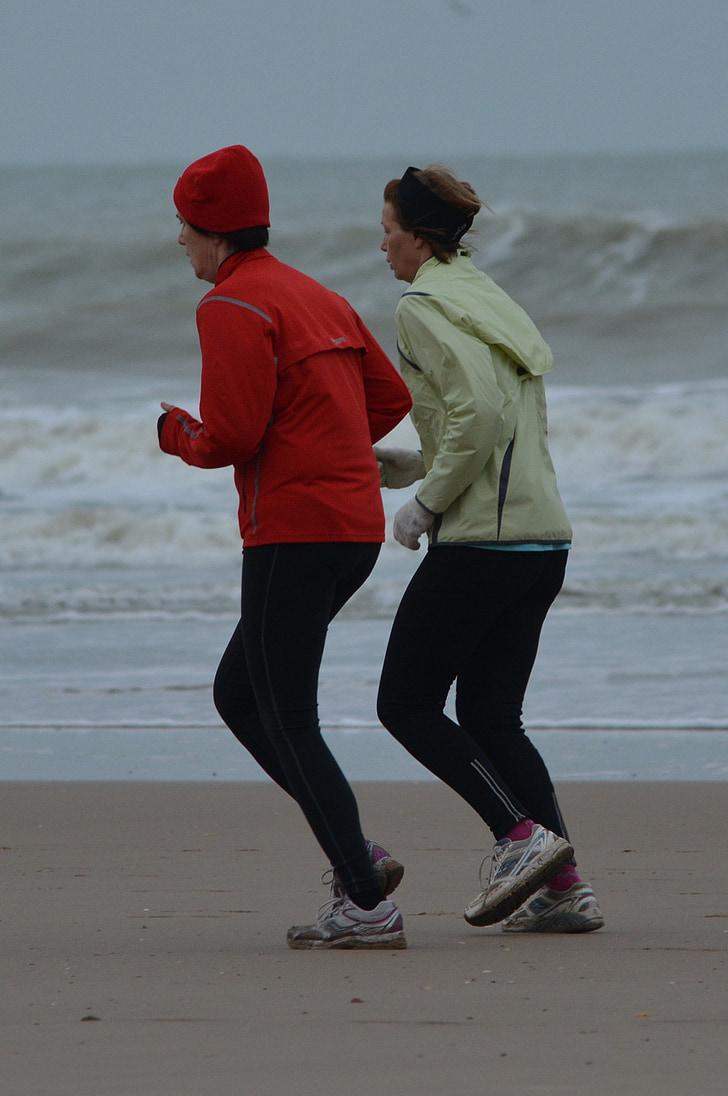 people, jogging, beach, sea, jogger, walk, sports