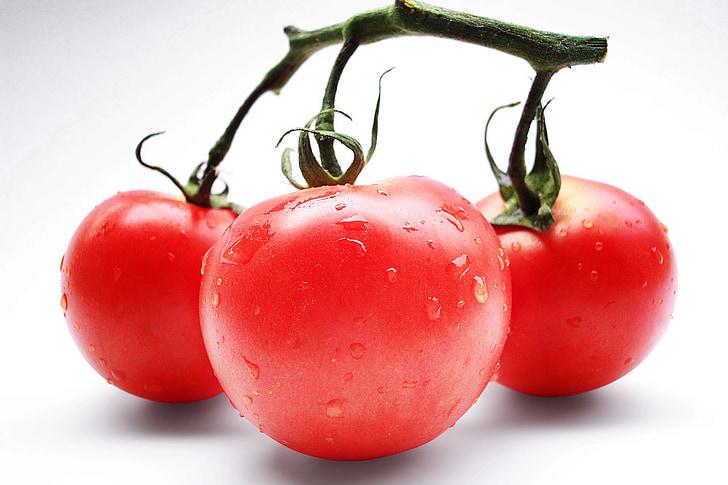 tomaten, rood, groenten, vitaminen, Vegetarisch, tomaat, versheid