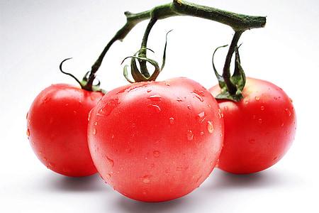 tomater, rød, grøntsager, vitaminer, vegetar, tomat, friskhed