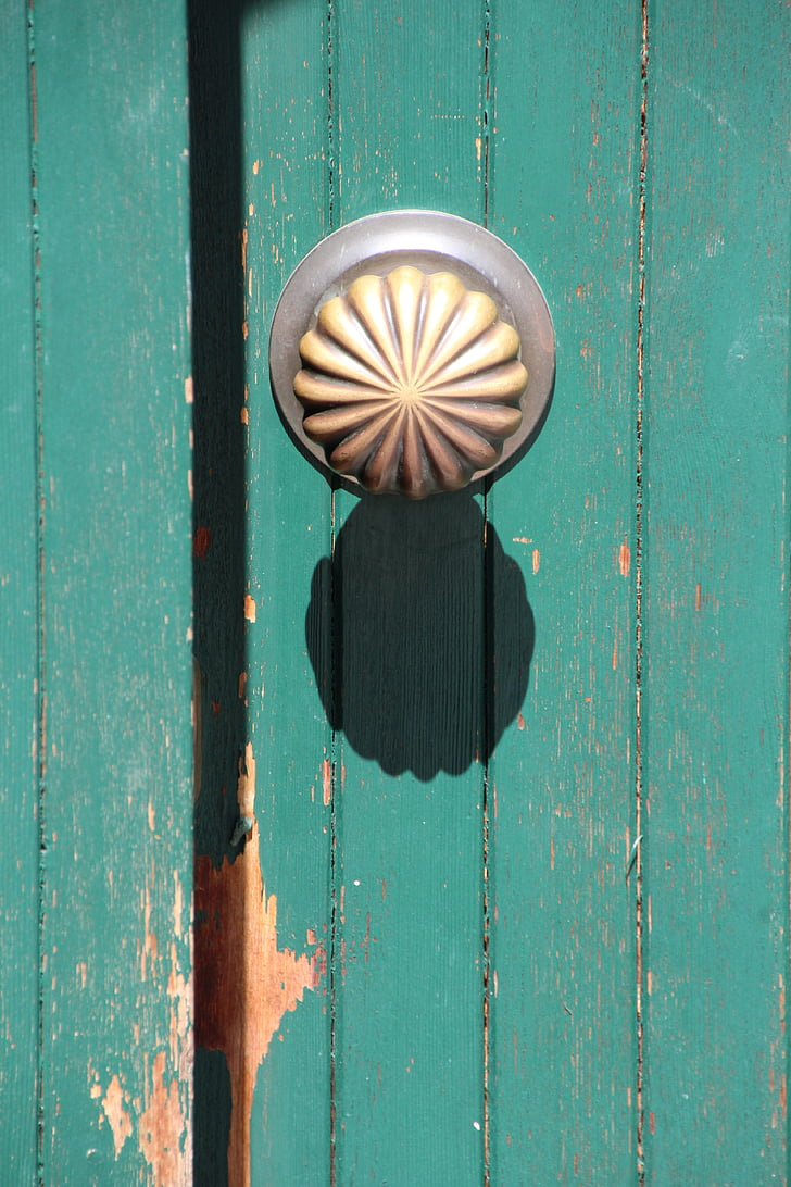door knob, shadow, mint, gold