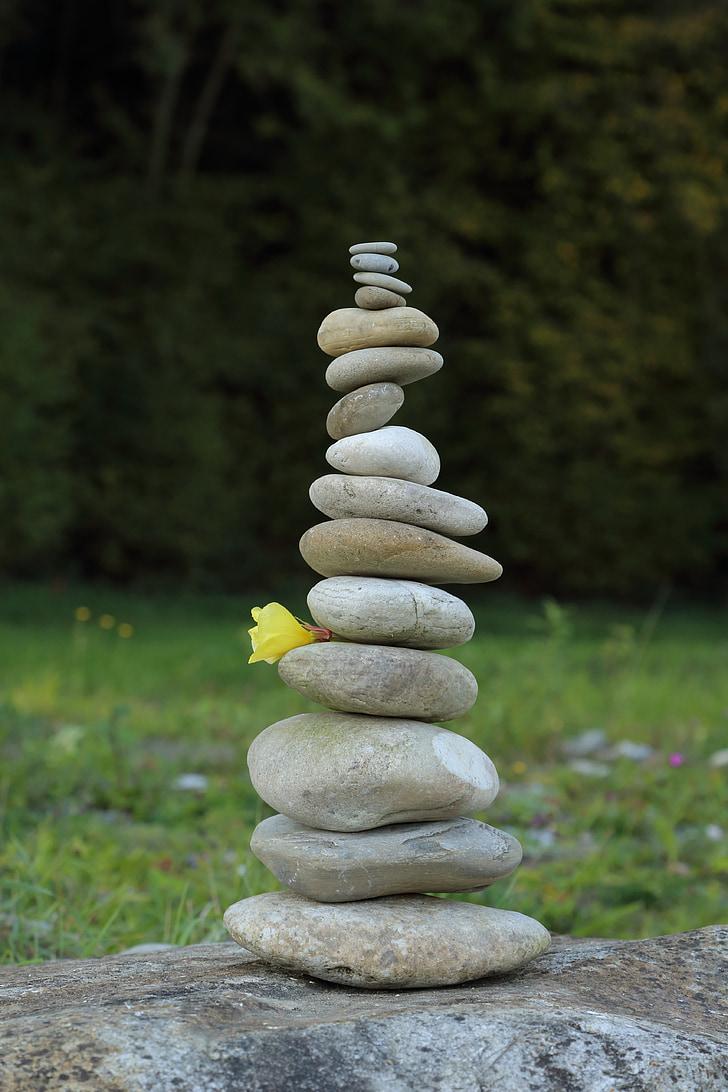 tháp đá, đá, cân bằng, Xếp chồng lên nhau