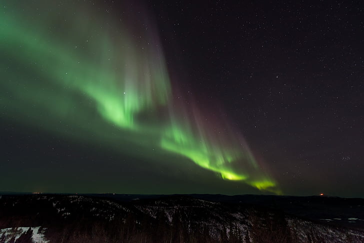 grøn, Aurora, Sky, nordlys, nat, Aurora polaris, vejr