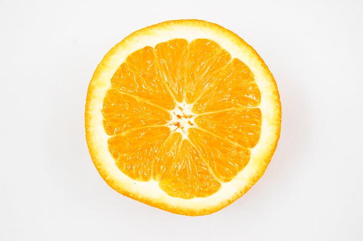 Orange, buah, Vitamin, lemon, setengah, buah jeruk, Makanan