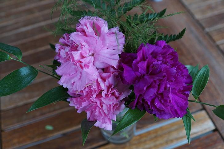 cloves, flowers, strauss, purple, pink