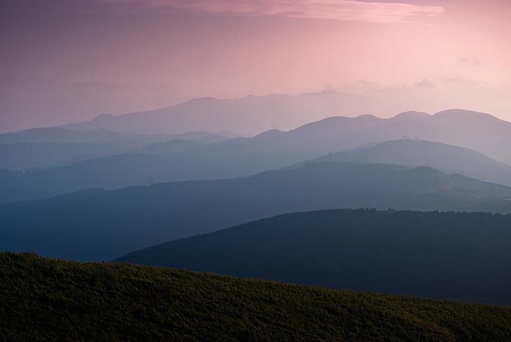 vrstva, vrstvené, Mountain, Bliss, Gradient, pokojný, samota