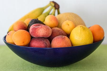 voće, košara s voćem, voće, vitamini, hrana, Frisch, mrtva priroda