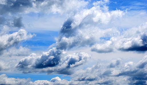 pilvet, taivas, Sky pilvet, Sinitaivaan pilvet, Sää, sininen, Luonto