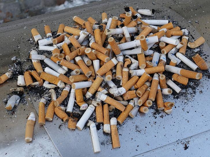 asbak, Rokok akhir, Rokok, Diberkati, nikotin, kecanduan, tidak sehat