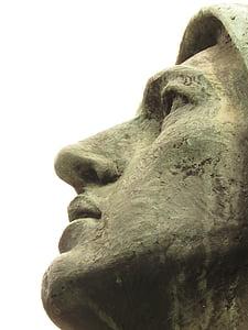 Medellin skulptur, ansikte, museet, kultur, staty, skulptur