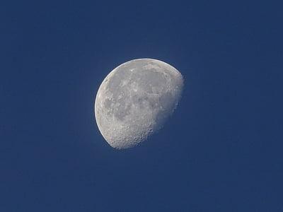 Mond, Himmel, Astronomie, Tag, Halbmond, Himmelblau