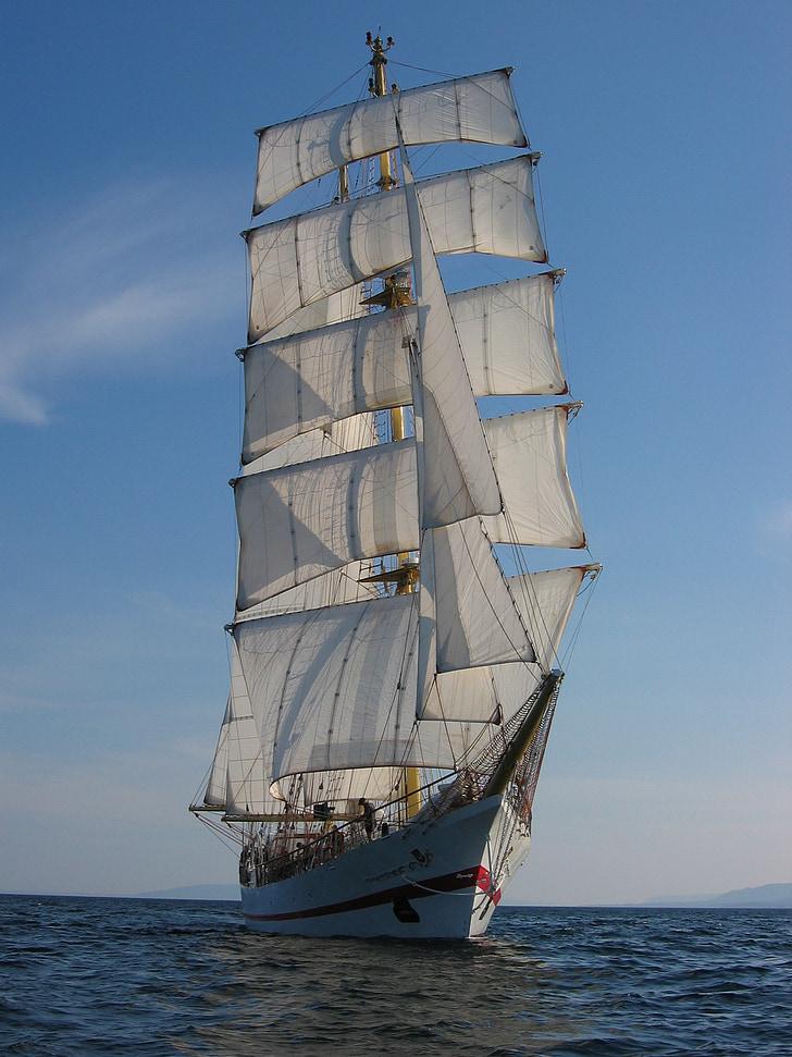skonaren, nautisk, segling, Ocean, maritima, vind, havet