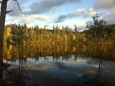 spegelsjö, landscapes, autumn