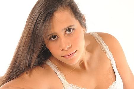 girl, woman, portrait, lingerie