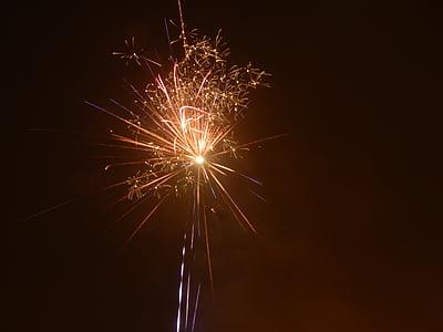 sparkler, radio, glow, fireworks, rocket, new year's eve, fireworks rocket