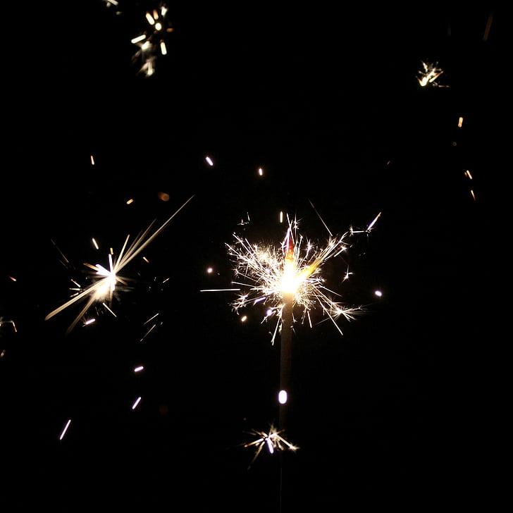 csillagszóró, rádió, spray, sötétség, hangulat, fény, ünnepi