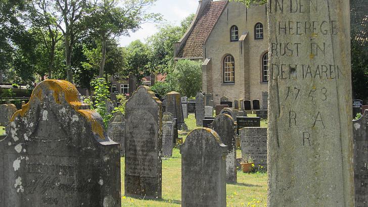 cemetery, vlieland, whale bone, monument