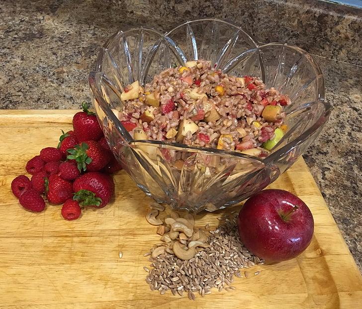 kuskus, salata, zdrav, vegetarijanska, svježe, veganski, biljka