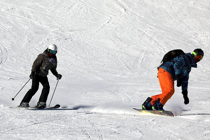 ski, skiing, sport, alpine, snowboarding, winter, skier