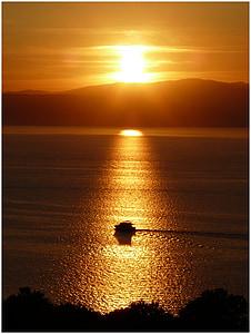 море, Захід сонця, abendstimmung, небо, Хорватія, післясвічення, відпочинок