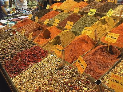 gia vị, thực phẩm, nhà bếp, thị trường, Ixtanbun, Đại lý, cà ri