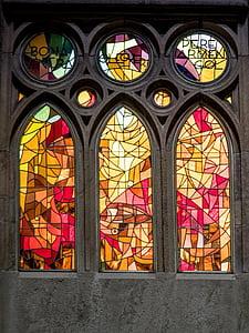 Vitrall, Catedral, Sagrada Família, Barcelona, Catalunya, arquitectura, l'església