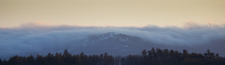 paisatge, muntanya, panoràmica, panoràmica, arbres