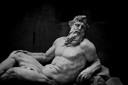 Art, blanc i negre, religió, escultures, Uvas, només homes, construcció muscular