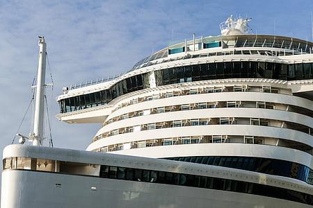 kryssningsfartyg, Bridge, kryssning, havet, Aida prima, Aida, turism
