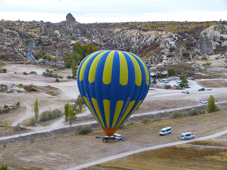 globus, globus aerostàtic, Inici, augment, enlairar-se, Capadòcia