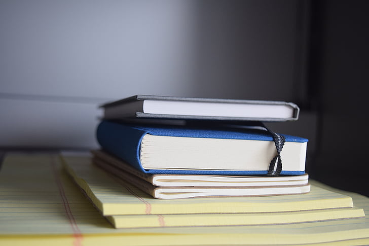 books, office, notepad, stacked, desk, corporate, document