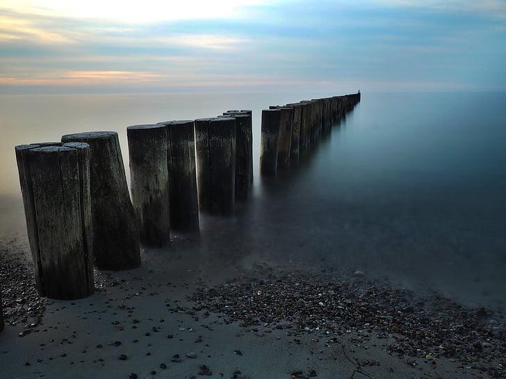 strand, zee, hout, zand, strand-kust, zomer, Golf