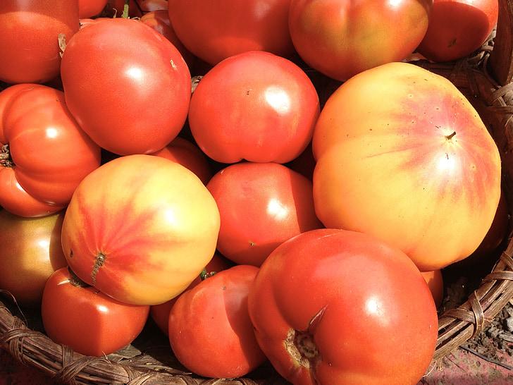 Perintökalu tomatid, punane, kollane, Aed, reliikvia, tomat, toidu