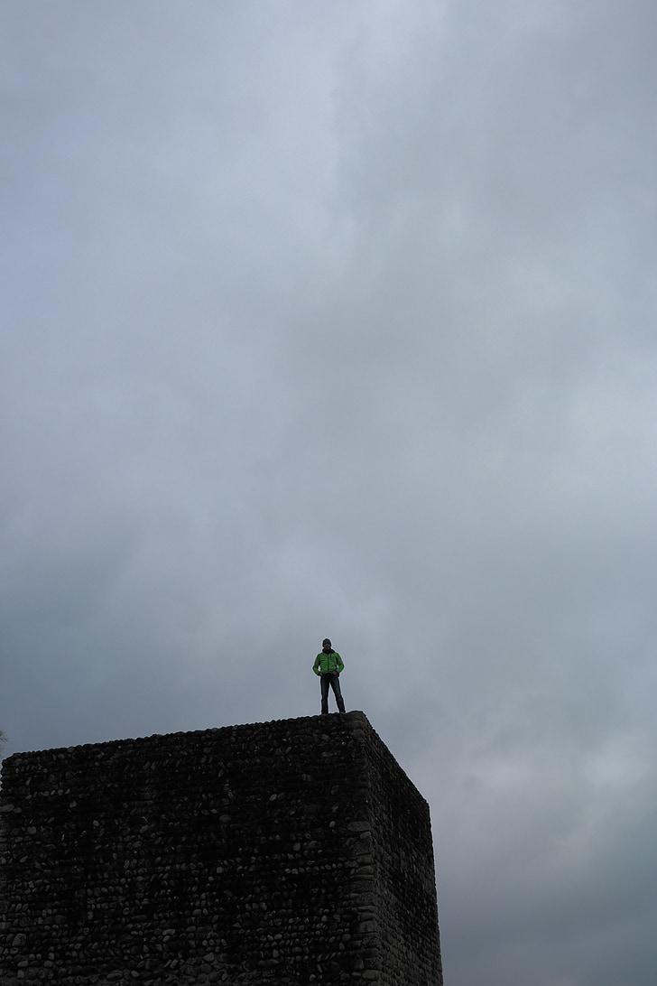 torony, sötét, Borús, még, Castle, Kastell irgenhausen, Roman fort