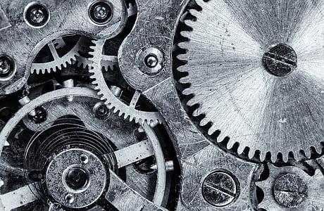 macro, Focus, melcată, uneltele, motor, Vintage, fosta