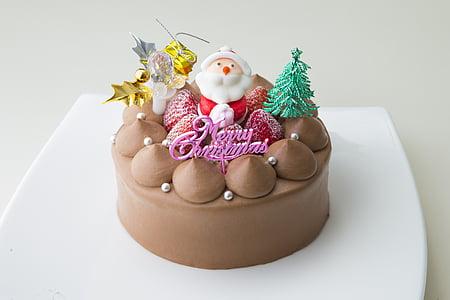 bánh Giáng sinh, sô cô la, Suites, ông già Noel, bánh, bánh sô cô la, món tráng miệng