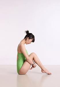 china, female, dance, yoga, posture, beautiful, one person