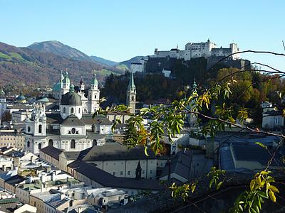 Зальцбург, фортеця, Австрія, Старе місто, фортецю Хоензальцбург, введення, притягнення туриста