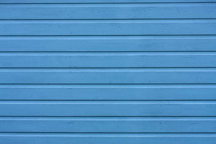 blå, træ, træ, lameller, malet, baggrund, tekstur