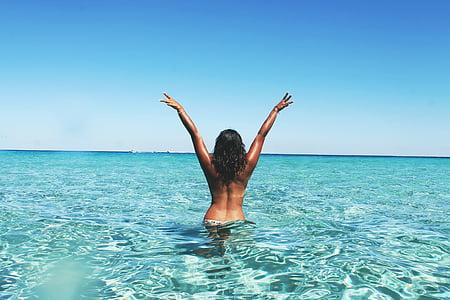 beach, dom, leisure, ocean, sea, skin, tropical