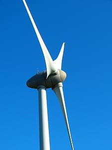 pinwheel, energy, environmental technology, sky, blue, turbine, wind Turbine