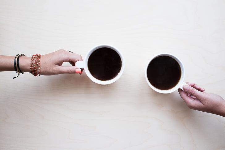 กาแฟ, เพื่อน, แชท, คน, เครื่องดื่ม, ร้าน, หนุ่ม