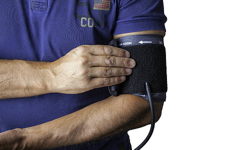 Bloeddrukmonitor, Groeten, hartslag, bloeddruk, selectievakje, arts, ziek