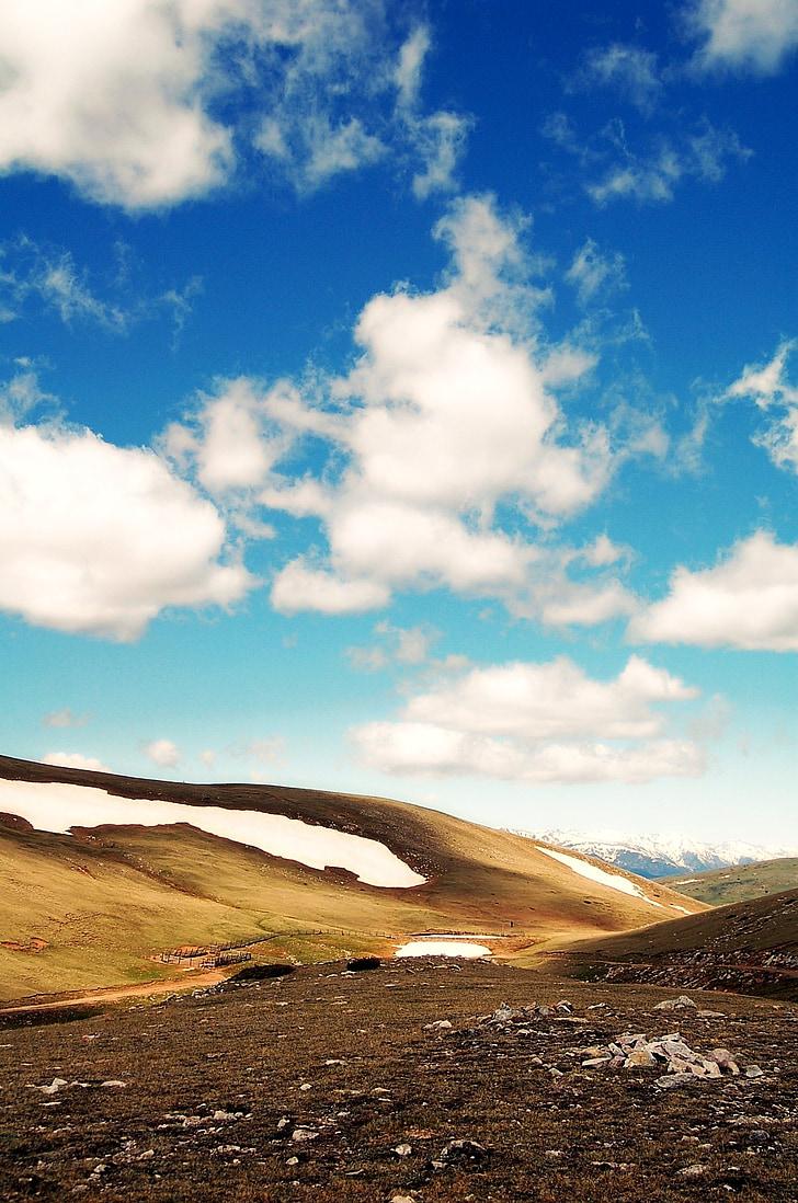 mountain, sky, cloud, mountains, clouds, landscape, pyrenees