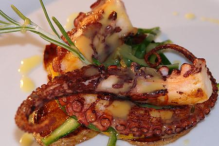 frutti di mare, polpo, mare, cibo, ristorante, Gourmet, cucina