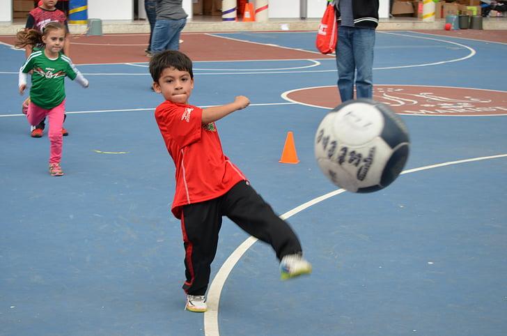 kid, soccer, kick, kicking, boy, kids, child